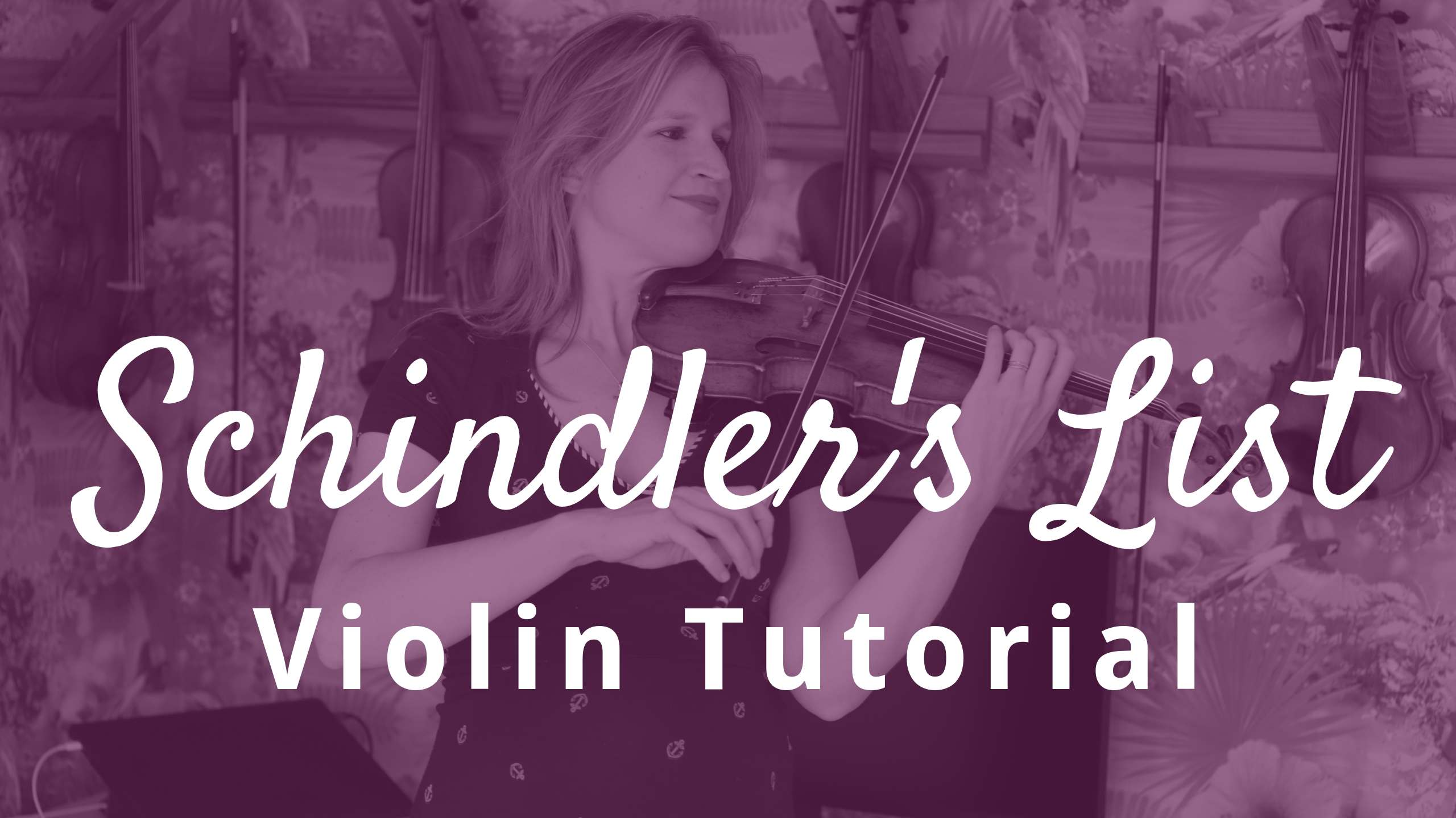 How to Play Schindler's List Violin Solo Theme by John Williams (complete tutorial)