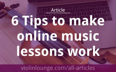 6 Tips to make online music lessons work