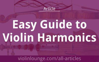 Easy Guide to Violin Harmonics