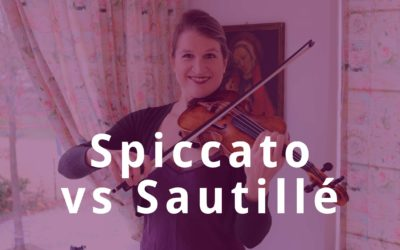 Switch between SPICCATO and SAUTILLÉ Violin Bow Technique | Violin Lounge TV #360