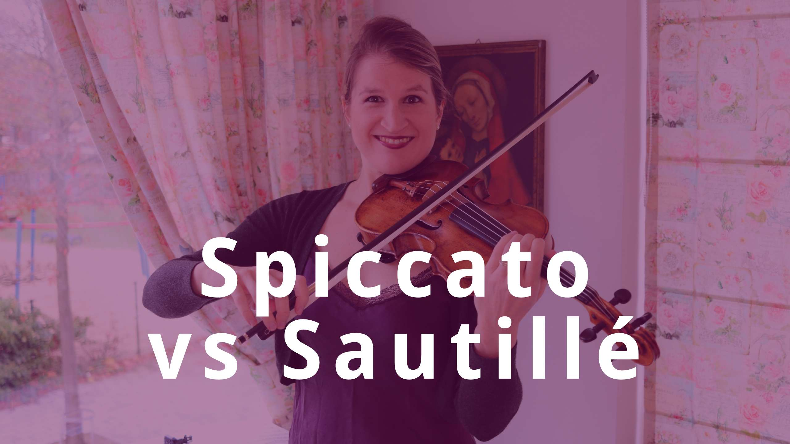 Switch between SPICCATO and SAUTILLÉ Violin Bow Technique
