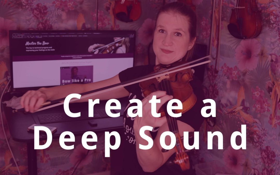 How to Stop Surface Noise on the Violin and Create a Deep Sound | Violin Lounge TV #367
