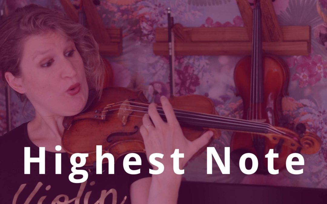 What's the Highest Note on the Violin | Violin Lounge TV #366