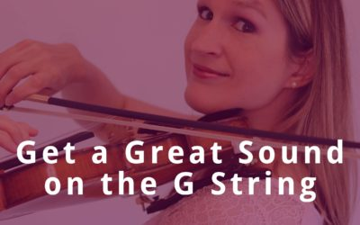 VIOLIN G STRING LESSON: Get a beautiful sound, a good vibrato and reach all notes | Violin Lounge TV #373