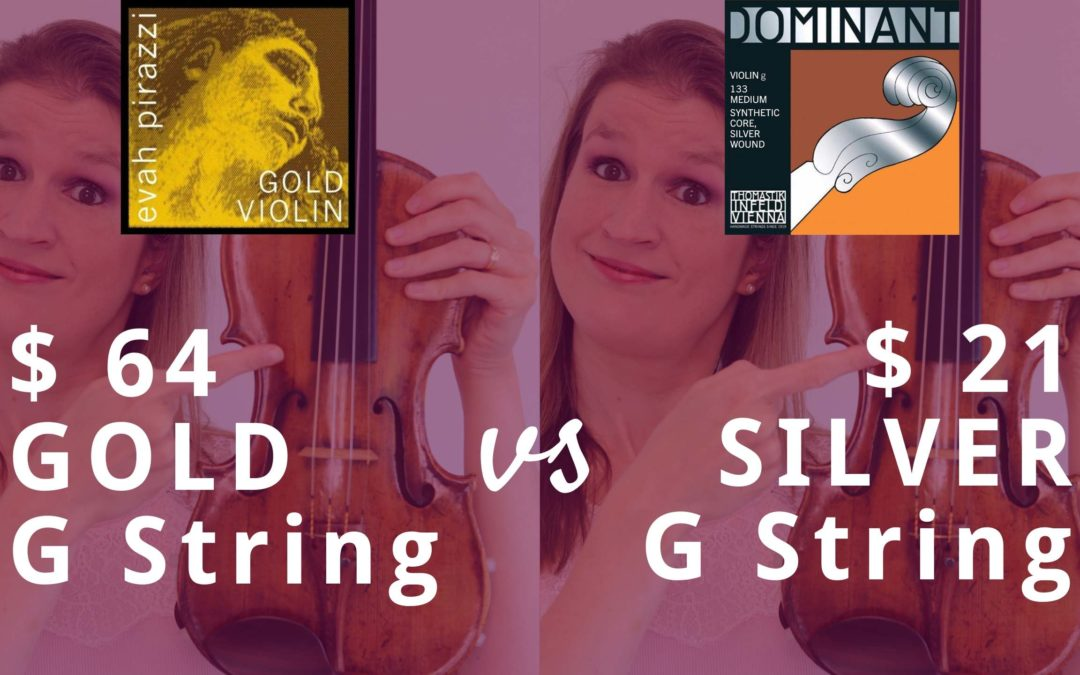 Silver vs Gold Violin G String: Can you hear the difference? | Violin Lounge TV #376