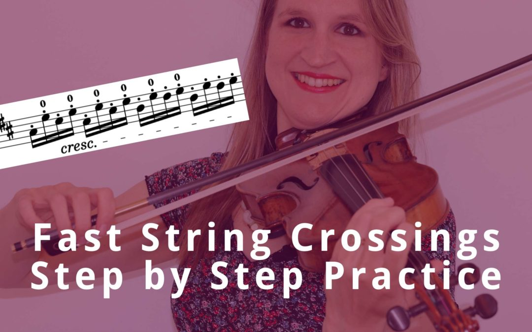 How to Practice FAST STRING CROSSINGS in Seitz Student Violin Concerto op 22 no 5 | Violin Lounge TV #380