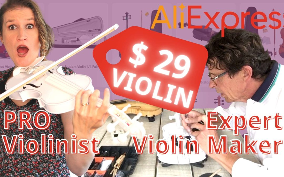 We Test and Improve the CHEAPEST $ 29 Violin from AliExpress | Violin Lounge TV #381