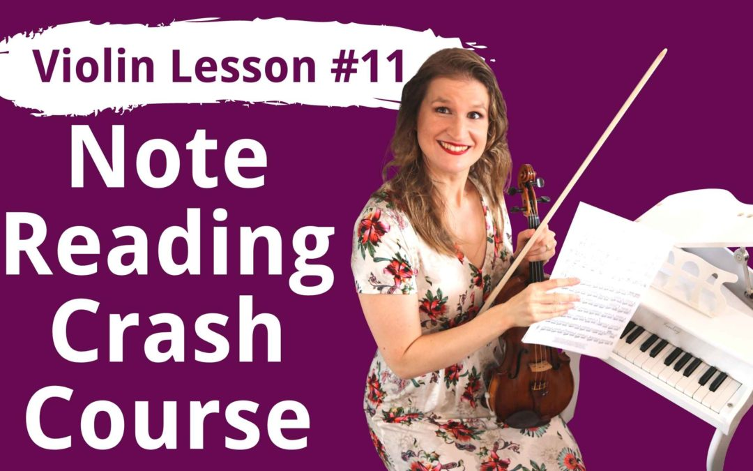 FREE Violin Lesson #11 How to Read Music Notes for Violin   EASY BEGINNER TUTORIAL