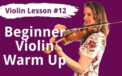 FREE Violin Lesson #12 Daily Warming Up Practice Routine for BEGINNER Violinists