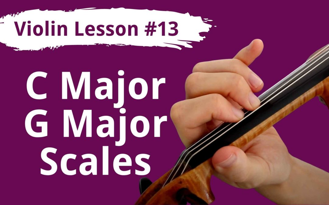 FREE Violin Lesson #13 Low 2nd Finger & 1 Octave C and G Major Scales