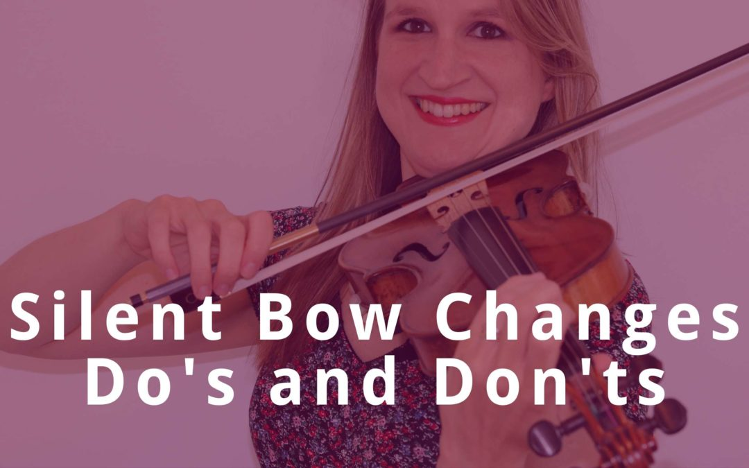 Seamless BOW CHANGES on the VIOLIN: Do's and Don'ts | Violin Lounge TV #382