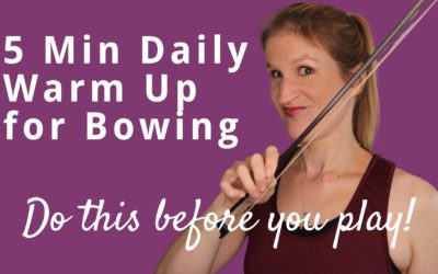 Violin BOW HAND WARM UP for Flexible Bowing and a Great Sound | Violin Lounge TV #386