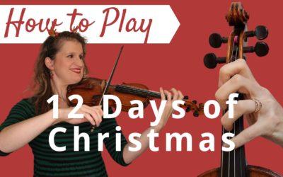 12 Days of Christmas | Easy Beginner Violin Tutorial