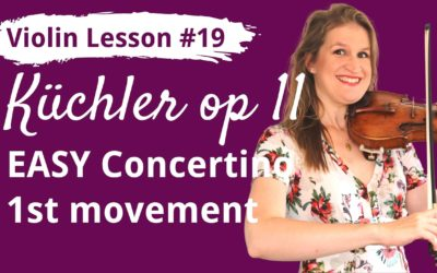 FREE Violin Lesson #19 Küchler EASY CONCERTINO op 11 1st movement