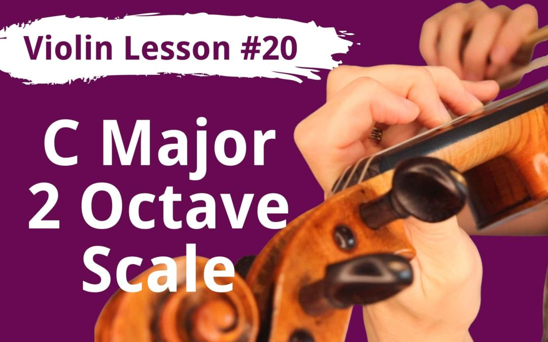 FREE Violin Lesson #20 Low First Finger and C Major Notes