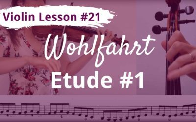 FREE Violin Lesson #21 Wohlfahrt op 45 etude 1 tutorial and SLOW play along