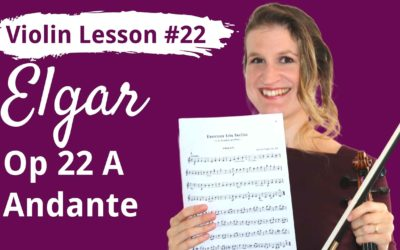 FREE Violin Lesson #22 Andante op 22A by Edward Elgar