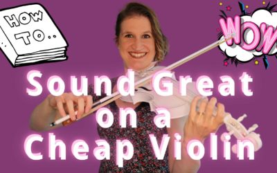 How to make a BIG BEAUTIFUL SOUND on a CHEAP VIOLIN | Violin Lounge TV #391