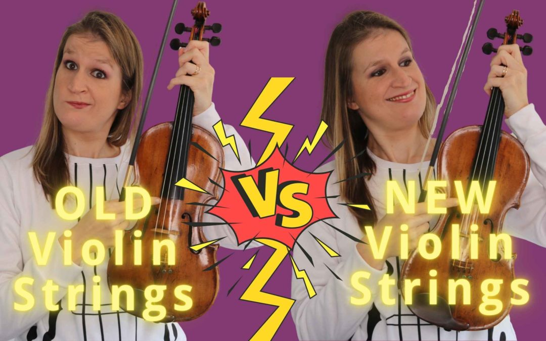 NEW vs OLD Violin Strings: can you hear the difference of 4 months? | Violin Lounge TV #392