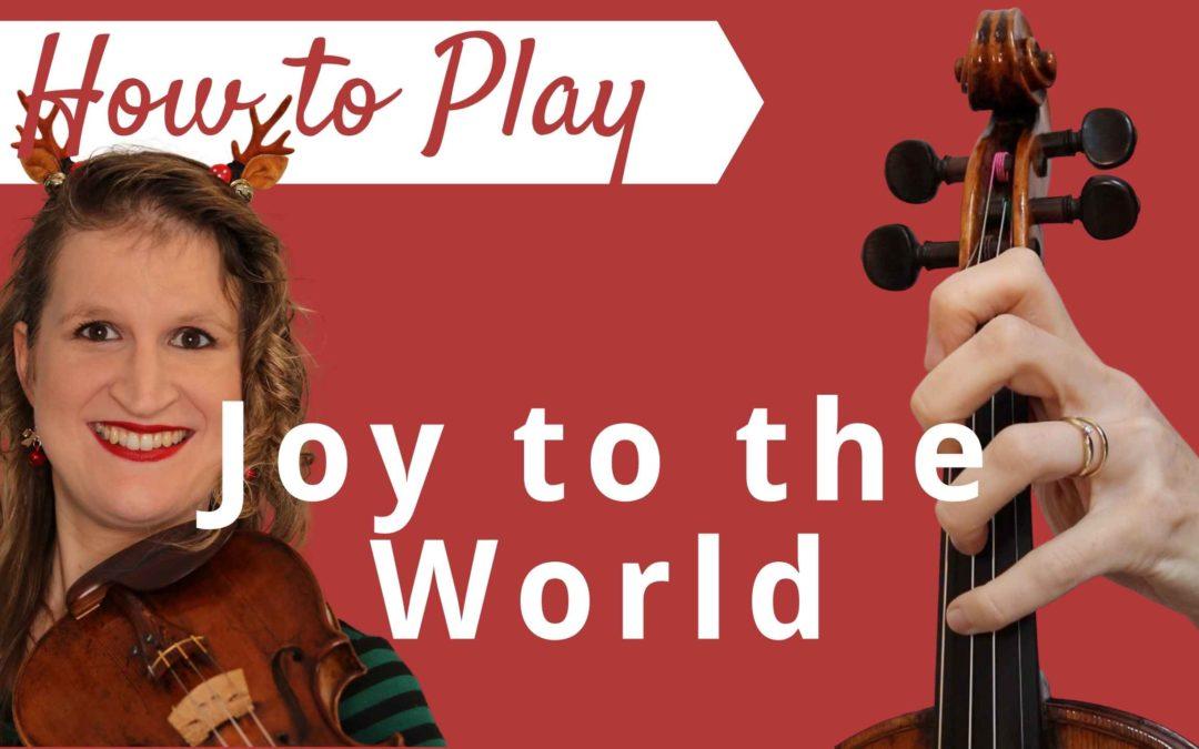 Joy to the World   Easy Beginner Violin Tutorial