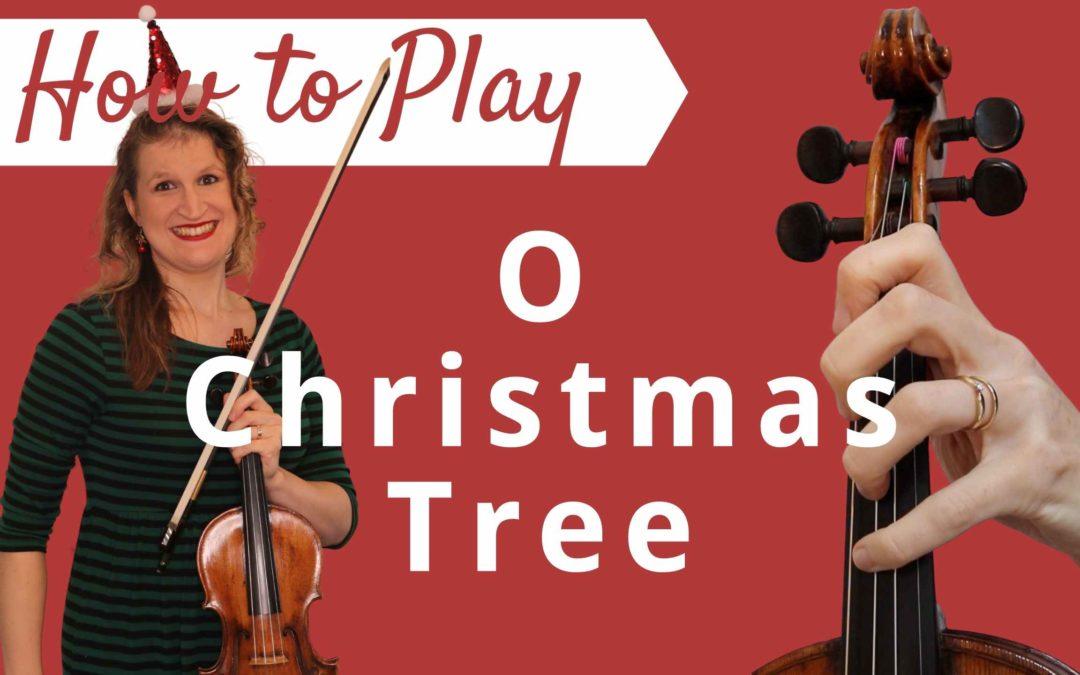 O Christmas Tree   Easy Beginner Violin Tutorial