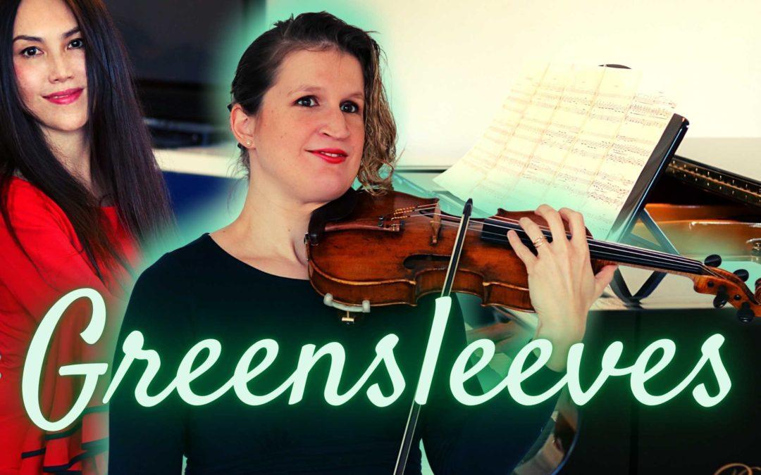 GREENSLEEVES violin and piano arr Matt Riley