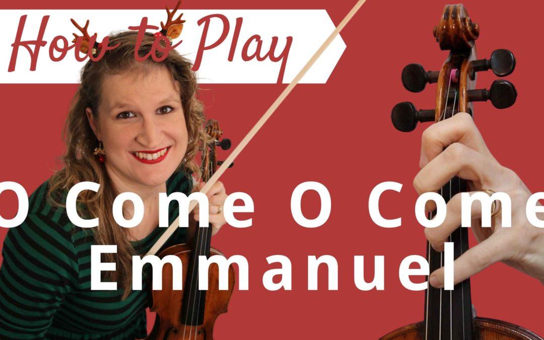 O Come, O Come Emmanuel   Easy Beginner Violin Tutorial
