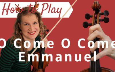 O Come, O Come Emmanuel | Easy Beginner Violin Tutorial