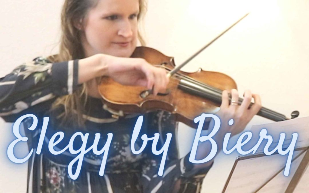 Elegy for Violin and Organ by James Biery
