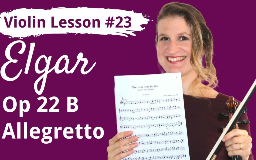 FREE Violin Lesson #23 Allegretto op 22B by Edward Elgar
