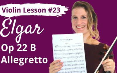 FREE Violin Lesson #23 Allegretto op 22B by Edward Elgar