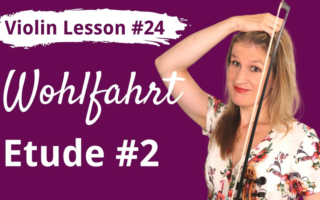 FREE Violin Lesson #24 Wohlfahrt etude op 45 no 2 tutorial and SLOW play along