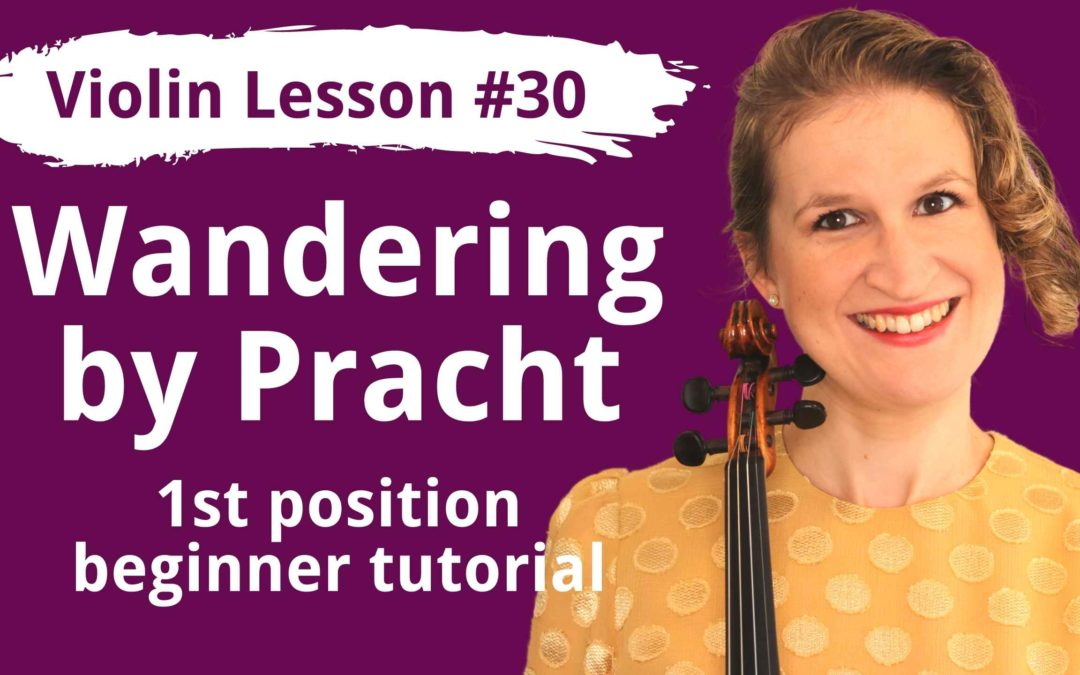 FREE Violin Lesson #30 Wandering op 12 no 4 by Pracht EASY TUTORIAL