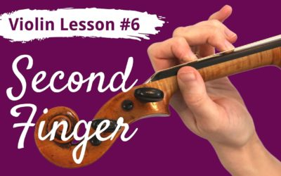 FREE Violin Lesson #6 for Beginners | SECOND FINGER