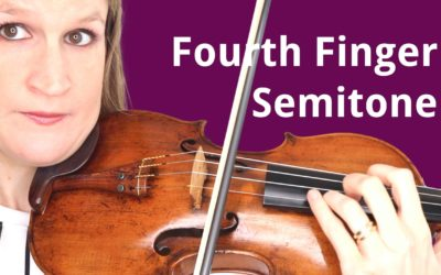 Play SEMITONES with the PINKY in Tune on the Violin | Violin Lounge TV #411