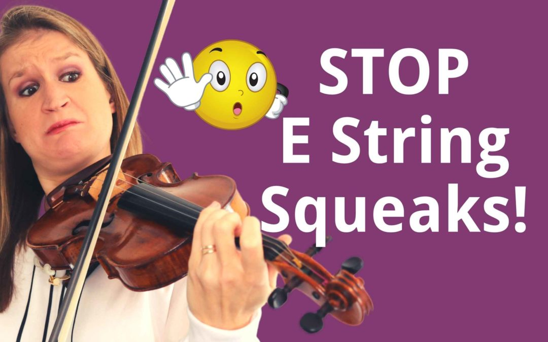 6 Tips to STOP that SQUEAKY E String as a Beginner Violinist | Violin Lounge TV #413