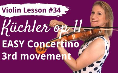 FREE Violin Lesson #34 Küchler EASY CONCERTINO op 11 3rd movement