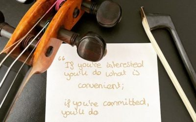 If you're interested you'll do what is convenient; If you're committed you'll do WHATEVER IT TAKES