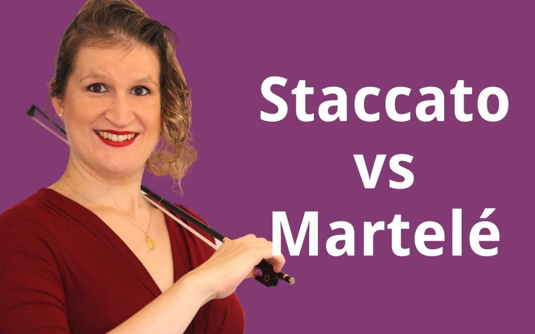 Staccato vs Martelé Violin Bow Techniques | Violin Lounge TV #414