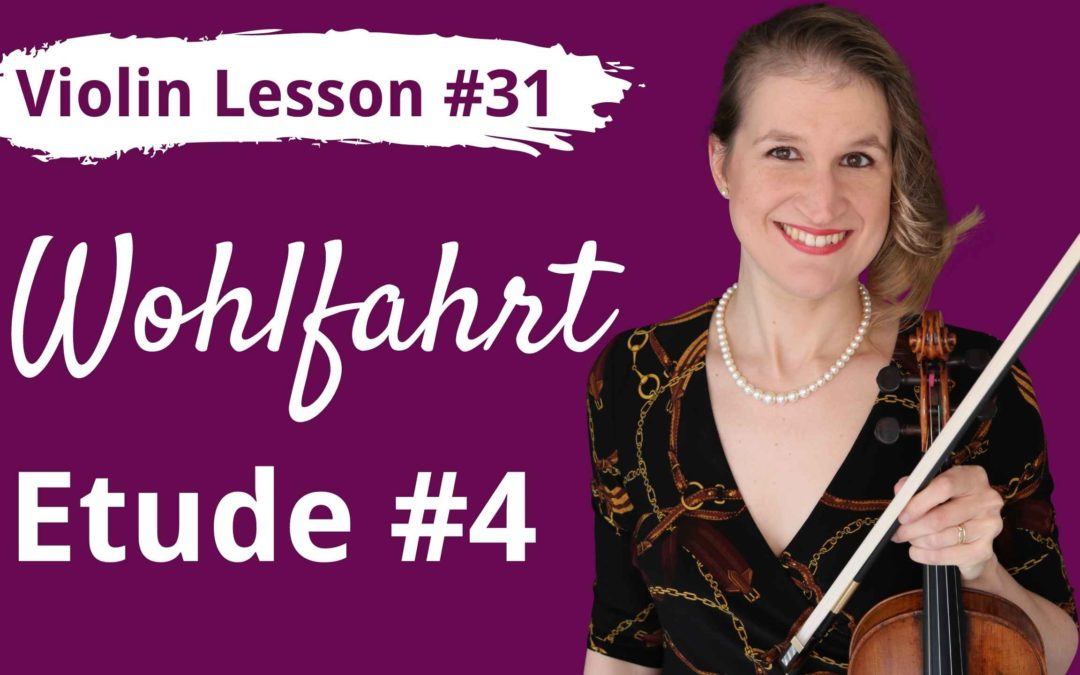 FREE Violin Lesson #31 Wohlfahrt etude op 45 no 4 tutorial and SLOW play along