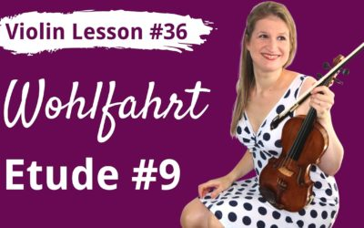 FREE Violin Lesson #36 Wohlfahrt etude 9 tutorial and SLOW play along