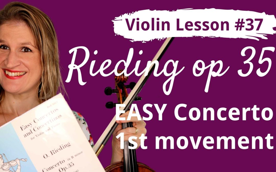 FREE Violin Lesson #37 Rieding EASY CONCERTO op 35 1st movement