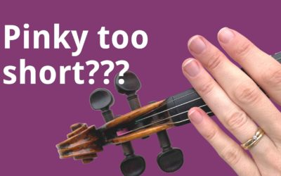 Feel your left pinky is too short for violin playing? Here's the solution! | Violin Lounge TV #415