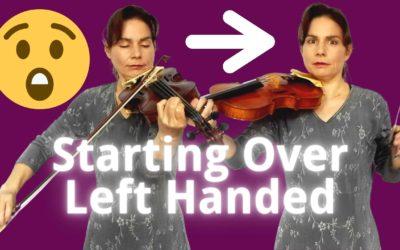 1 Min, 10 Min, 1 Hour Challenge: PLAYING THE VIOLIN LEFT HANDED | Violin Lounge TV #422