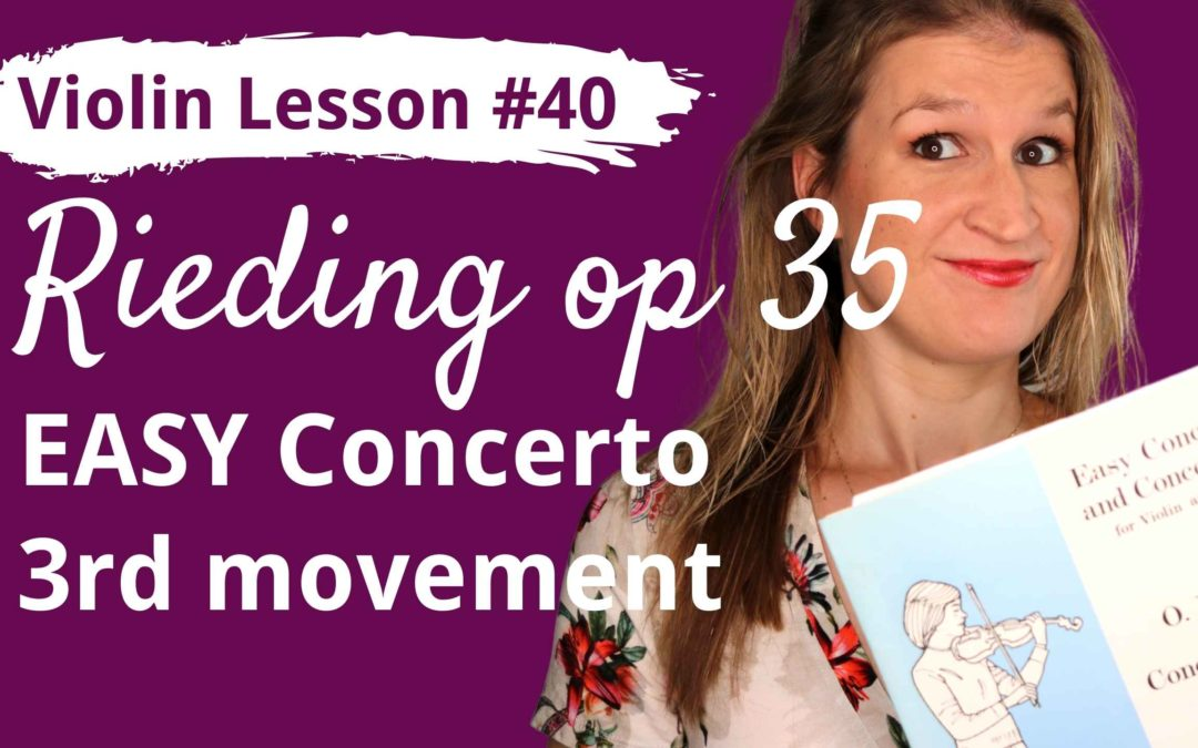 FREE Violin Lesson #40 Rieding EASY CONCERTO op 35 3rd movement