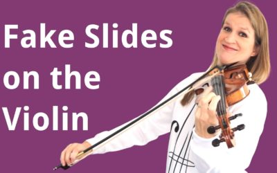 How to play fake slides on the violin (for a jazzy or gypsy sound) | Violin Lounge TV #428