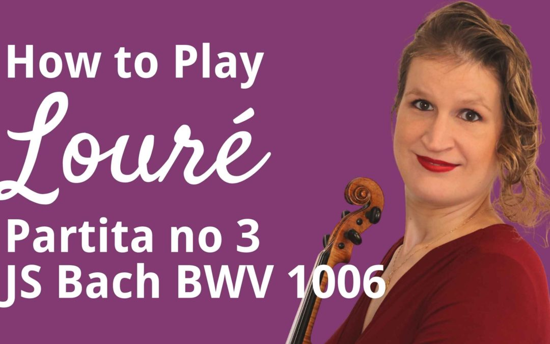 Vibrato and Double Stops in Louré from Partita in E major by JS Bach | Violin Lounge TV #429