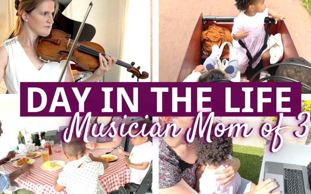 DAY IN THE LIFE of a Musician Mom of 3 Kids under 2 Years Old | Violin Lounge TV #433