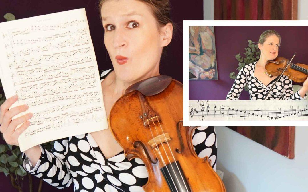 Watch Me Practice – Brahms Violin Concerto | Violin Lounge TV #434