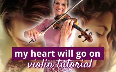 My Heart Will Go On – Titanic – Intermediate Violin Tutorial   Violin Lounge TV #435